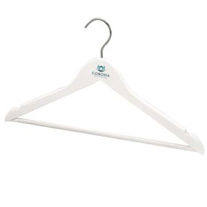 White Gloss Wooden Coat Hangers prices are upon application