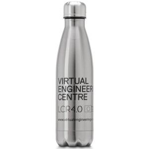 Silver Promotional Printed Thermal Flasks for Marketing Campaigns