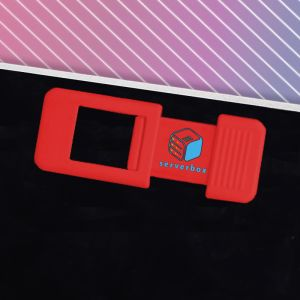 Red Personalised Web Cam Covers for Businesses