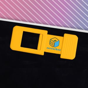 Yellow Corporate Printed Web Cam Covers for all Marketing Gifts