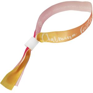 Promotional 15mm Locking Fabric Wristbands for events