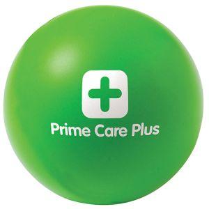 Custom branded stress balls for company advertising