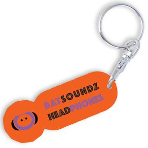 Promotional trolley token with company brading