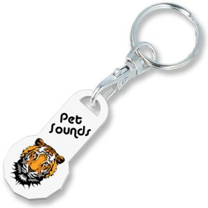 Promotional 12 Sided Trolley Coin Stick Keyrings for Events