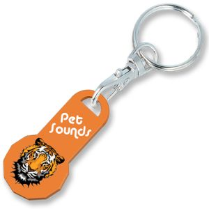 Company Printed Trolley Token Keyrings for Shop Merchandise