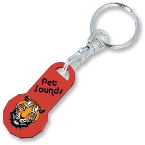 Personalised Trolley Token Keyfobs for Business Advertising