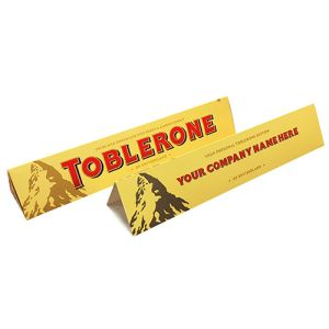 Company Branded Toblerone for Company Merchandise