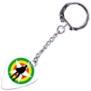Promotional Guitar Plectrum Keyrings Printed with your Company Logo