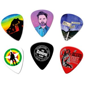 Corporate Branded Guitar Plectrum Keychains and Keyfobs as Promotional Giveaways