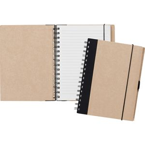 Customised A5 Recycled Paper Notebooks with printed logo