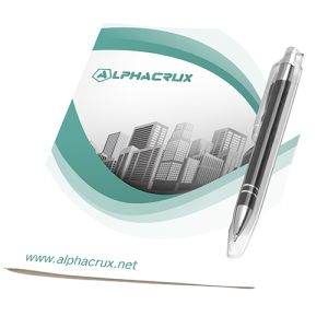 Corporate Greeting Cards with Branded Metal Pens