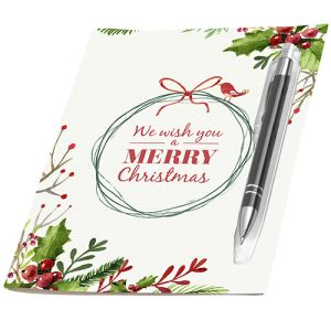 Promotional Electra Ballpen Greeting Cards Printed with your Design in Full Colour