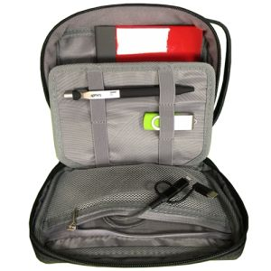The promotional Mini Tech Organiser Bag is perfect for taking your branding on the road