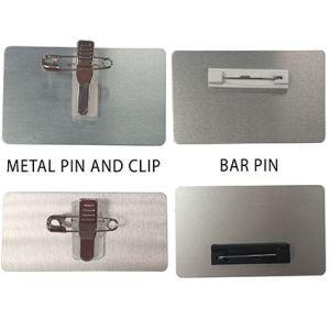 Logo Printed Custom Shaped Badges with Pin Badge Fittings