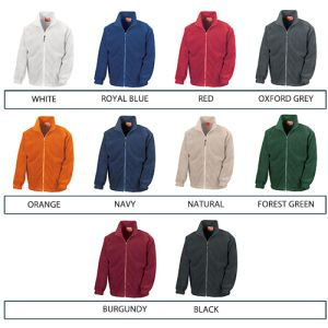 Promotional Embroidered Fleeces in 10 Branded Colours