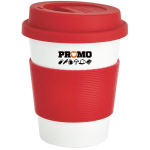 Branded Reusable Coffee Cups Printed Campaign Message