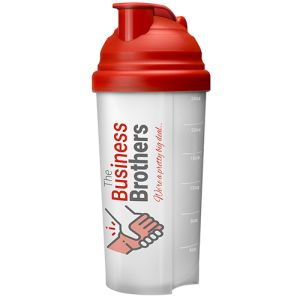 Choose from a whole rainbow of colours when you place your order for these promotional protein shaker bottles.