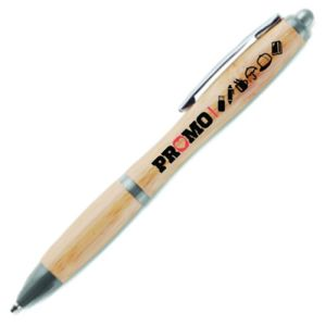 Branded Eco Bamboo Curvy Ballpens for Marketing Campaigns