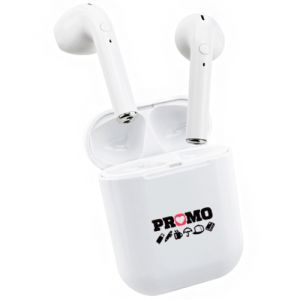 BrandedWireless Bluetooth Earbuds Printed with your Logo