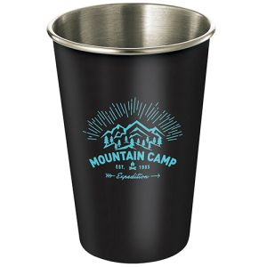 Branded Metal Cups Printed or Engraved with Your Logo