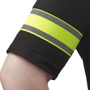 Branded hi vis arm bands for giveaways
