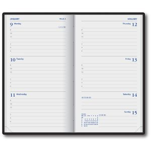 UK Branded Week-to-View Pocket Diaries