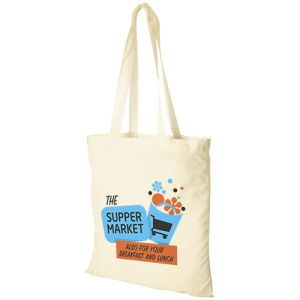 Custom Printed Value Lightweight Cotton Tote Bags