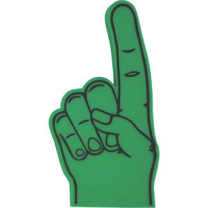 Promotional Foam Hands Marketing Campaign Giveaways in Green