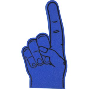 Branded Foam Fingers for Spectator Items in Royal Blue