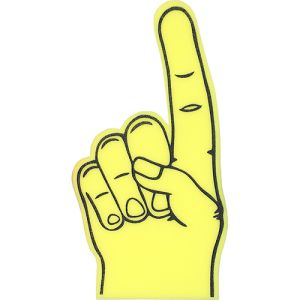 Logo Printed Foam Fingers at Great Low Prices in Yellow