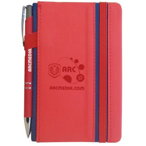 Personalised Note Books with Pens for Freshers Giveaways