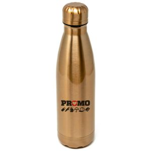 Branded 500ml Metal Bottles Engraved in Metallic Rose Gold