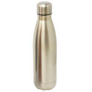 Promotional Reusable Metal Water Bottles in Metallic Antique Gold