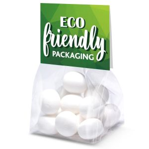 Promotional Eco Bags of Mint Imperials Fully Compostable