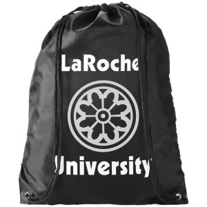 Black Branded Drawstring Bags for Schools and Exhibitions