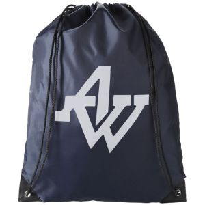 Navy Logo Printed Drawstring Bags Great Low Costs