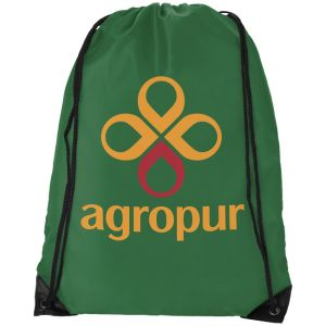 Bright Green Custom Printed Drawstring Bags for Events