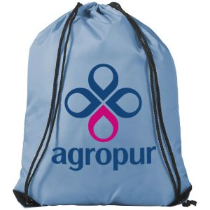 Sky Blue Custom Branded Drawstring Bags for Clubs and Teams