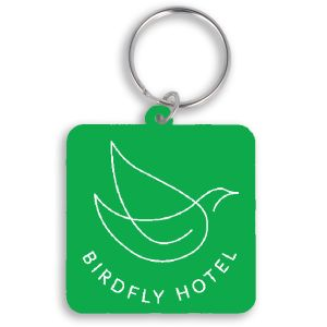 Green Printed Bespoke Shape Recycled Keyrings for Business