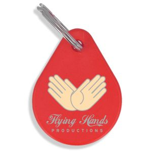 Red Branded Eco Keyrings Cut to your Bespoke Shape