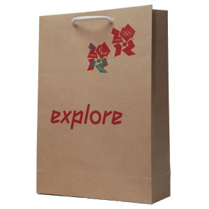 Branded Kraft Paper Carrier Bags with your Logo