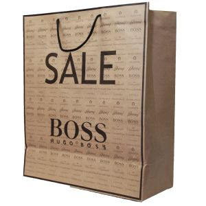 Promotional Large Kraft Paper Carrier Bags in Brown
