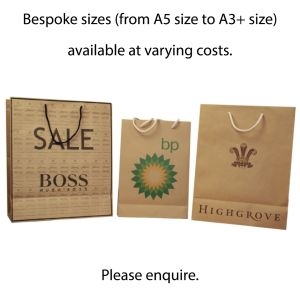 Custom Printed Paper Bags with Cotton Handles