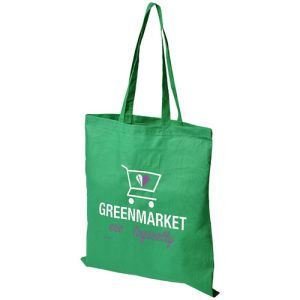 Middleweight Coloured Cotton Tote Bags in Bright Green