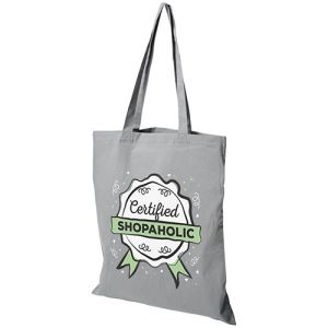 Middleweight Coloured Cotton Tote Bags in Grey