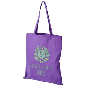 Madras Coloured Cotton Tote Bags in Lavender