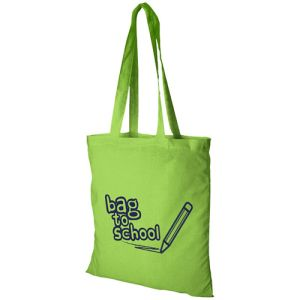 Middleweight Coloured Cotton Tote Bags in Lime
