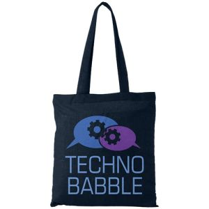 Middleweight Coloured Cotton Tote Bags in Navy
