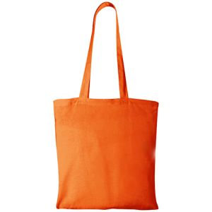 Middleweight Coloured Cotton Tote Bags in Orange