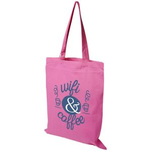 Middleweight Coloured Cotton Tote Bags in Pink